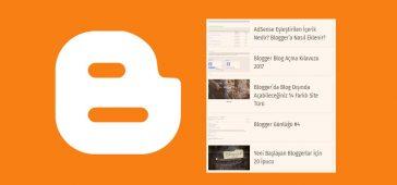 Blogger Son Yazılar