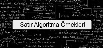 Satır Algoritma Örnekleri