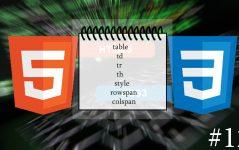 html5 tablo etiketleri