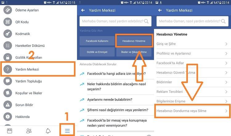 facebook hesap silme mobilden 1 - Facebook Hesap Silme