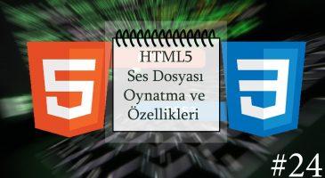 HTML Ses Dosyası