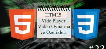 html5 video oynatma