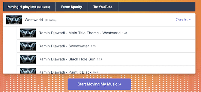 TuneMyMusic - Spotify Müzik Oynatma Listelerini YouTube 'a Aktarma