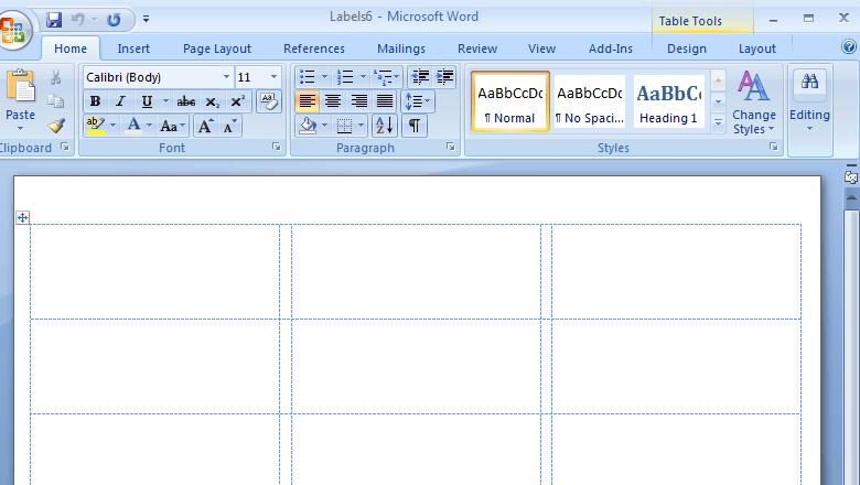 Word Etiket Şablonu Nasıl Yapılır