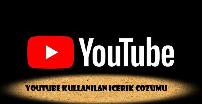YouTube Tekrar Kullanılan İçerik Çözümü