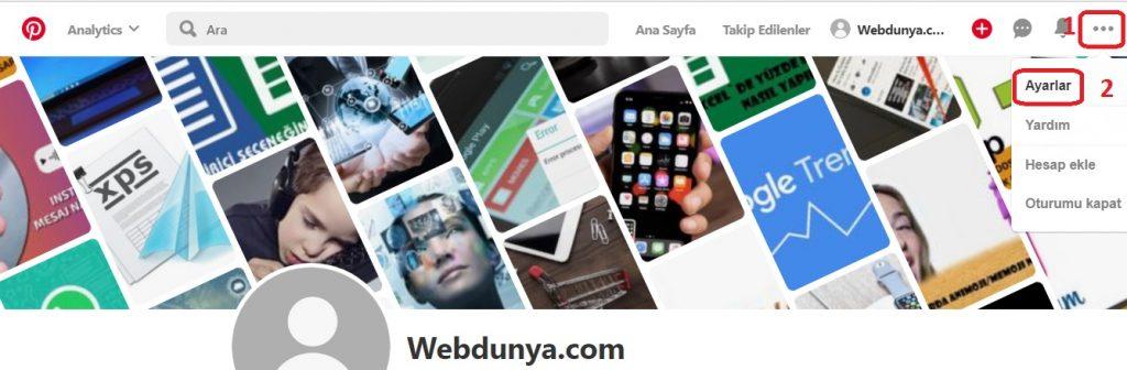 Site ayarlar giriş 1024x336 - Pinterest Arama Geçmişi Nasıl Silinir?