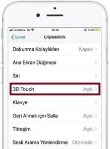 iphone 3d touch kapatma 222x300 - iPhone 3D Touch özelliği Nasıl Kapatılır?
