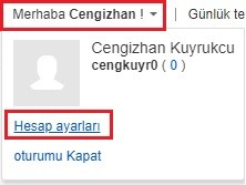 EBay Hesap Ayari
