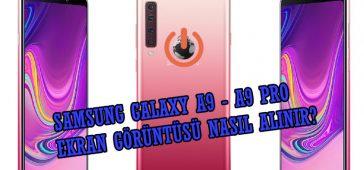 Samsung Galaxy A9 - A9 PRO Ekran Görüntüsü Nasıl Alınır