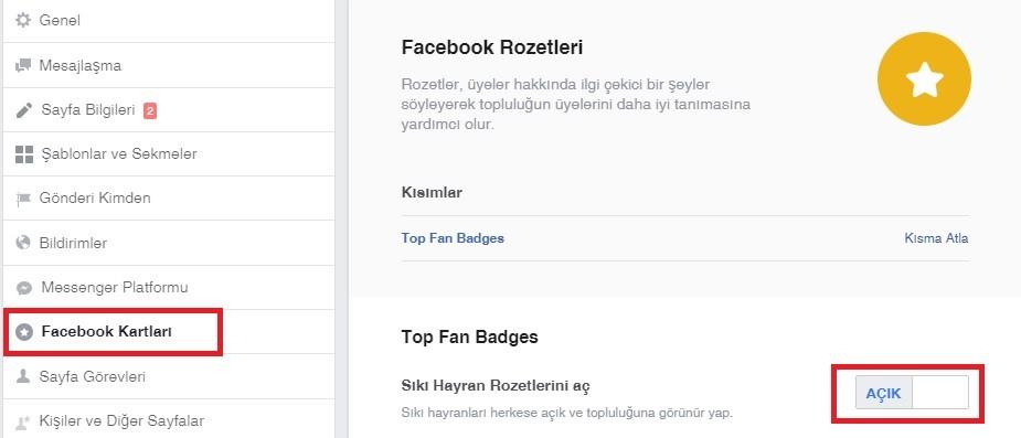 Facebook sayfanizda siki hayran rozetini aktiflestirme - Facebook Sıkı Hayran Rozeti Nedir? Nasıl Alınır?