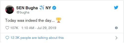 bugha twitter yazisi - Fortnite Dünya Kupası Finalinde 3 Milyon$ Kazandı