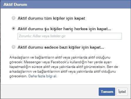facebook aktif durum kapatma - Facebook Messenger Aktif Durumu Kapatma