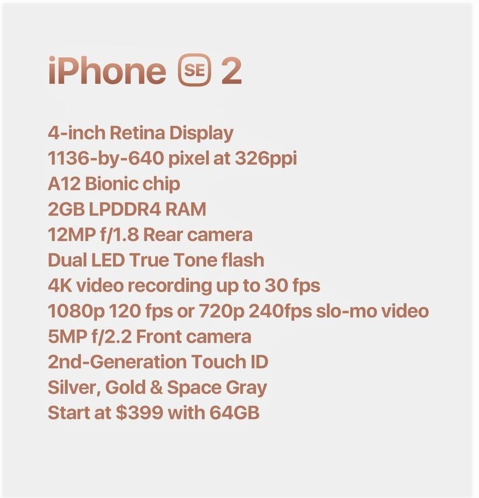 Iphone Se 2 Ozellikleri