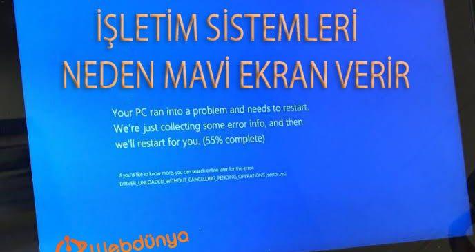 isletim sistemleri neden mavi ekran hatasi verir 688x365 - İşletim Sistemleri Neden Mavi Ekran Verir?