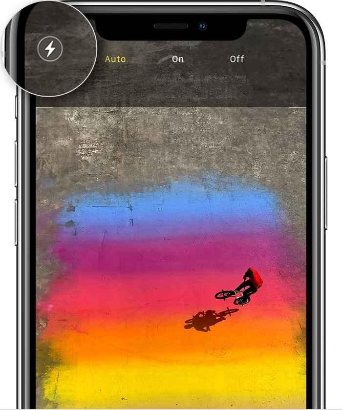 phone kamera Flaşını Kullanın 1 - iPhone Kamerası Nasıl Kullanılır ?