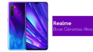 Realme Ekran Görüntüsü Alma
