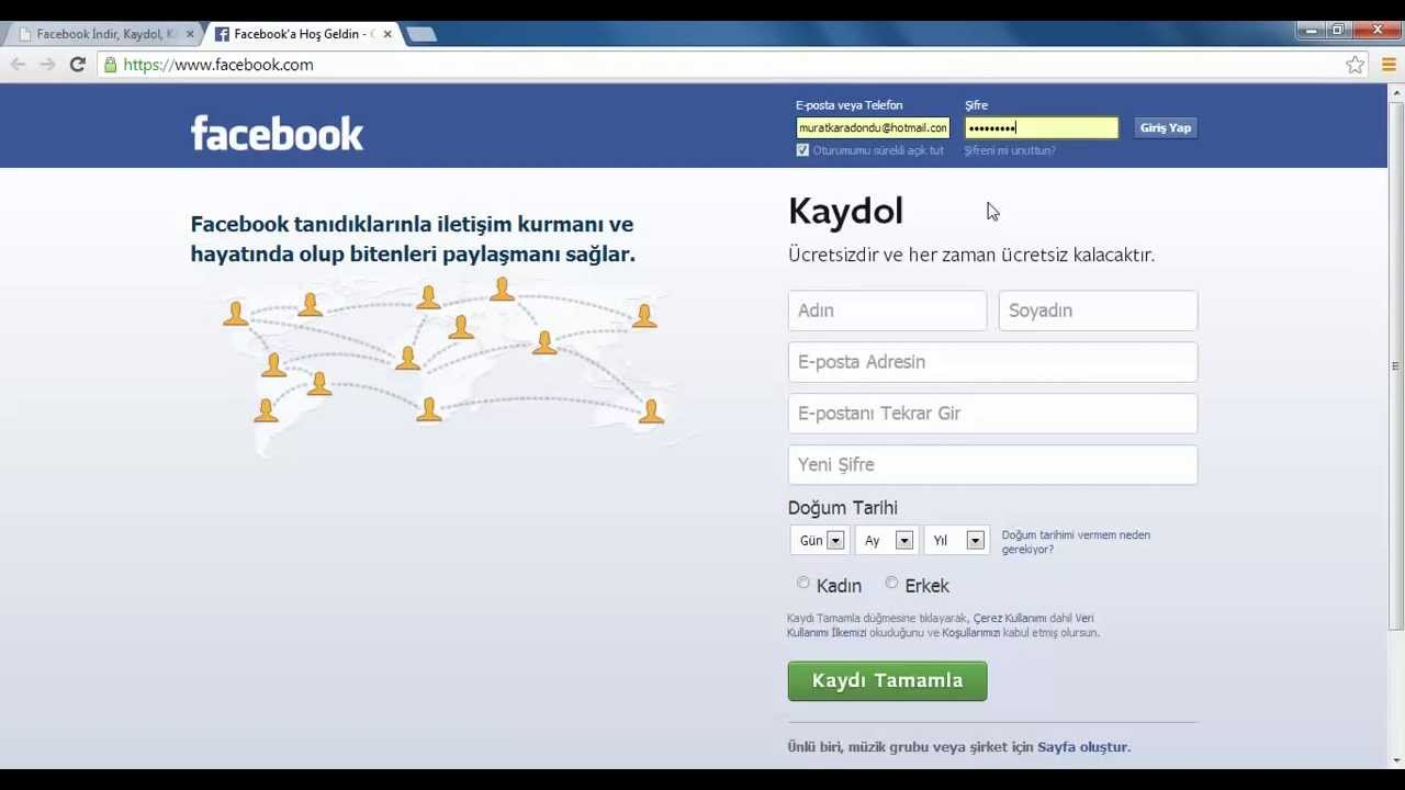 facebook hesabi