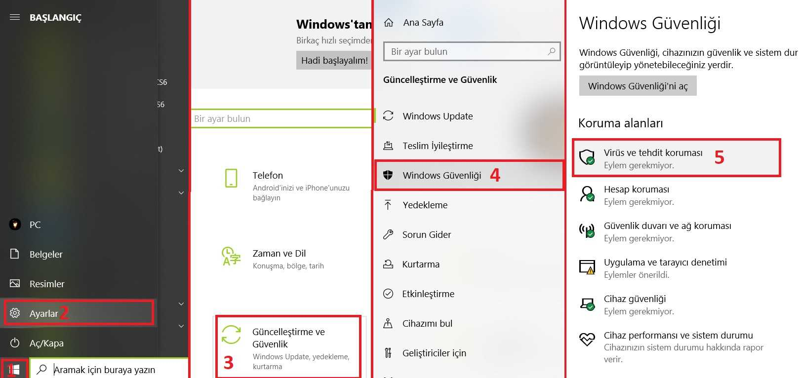 Windows Defender Kapatma